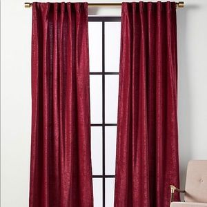 NWT anthropologie chenille 2 curtains 50 by 84
